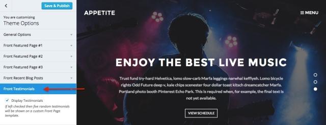 Appetite: customize_testimonials