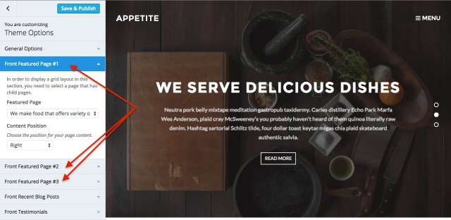 Appetite: customize_featured_pages