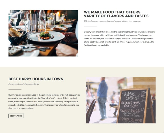 Appetite: Home Pages