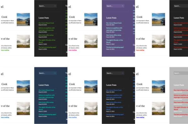 Publication theme colors
