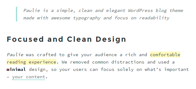 Clean Design and Typography