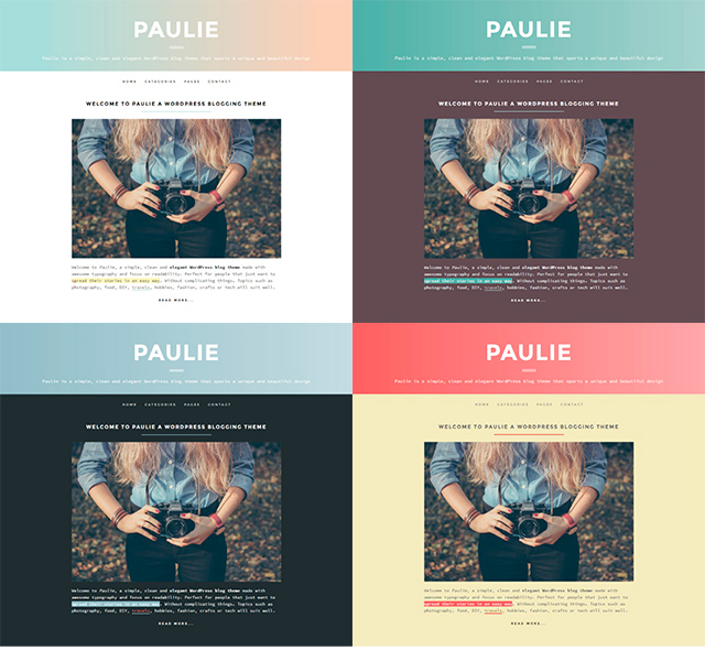 paulie color schemes