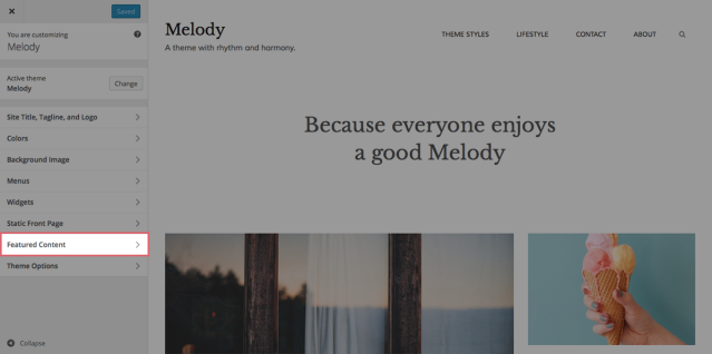 Melody Featured Content closed