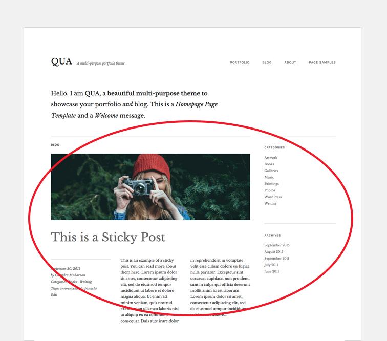QUA Blog section