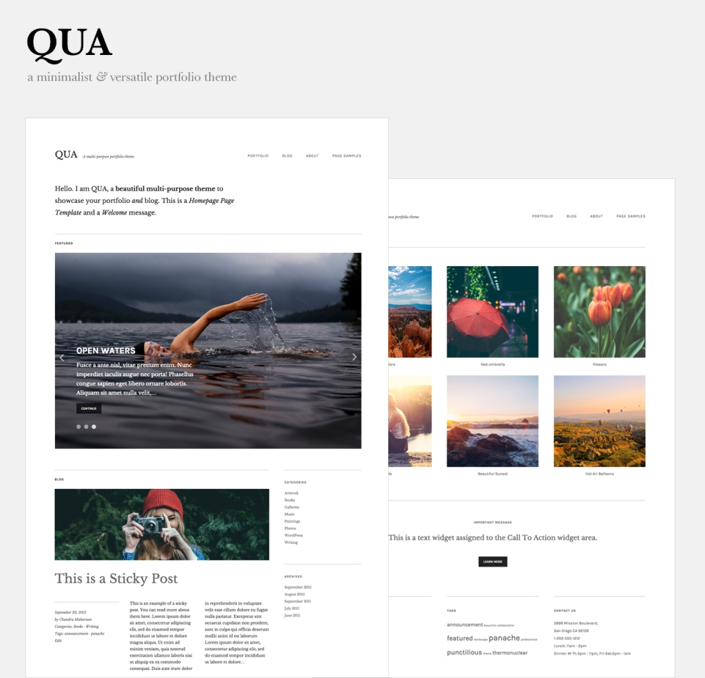 Qua WordPress theme