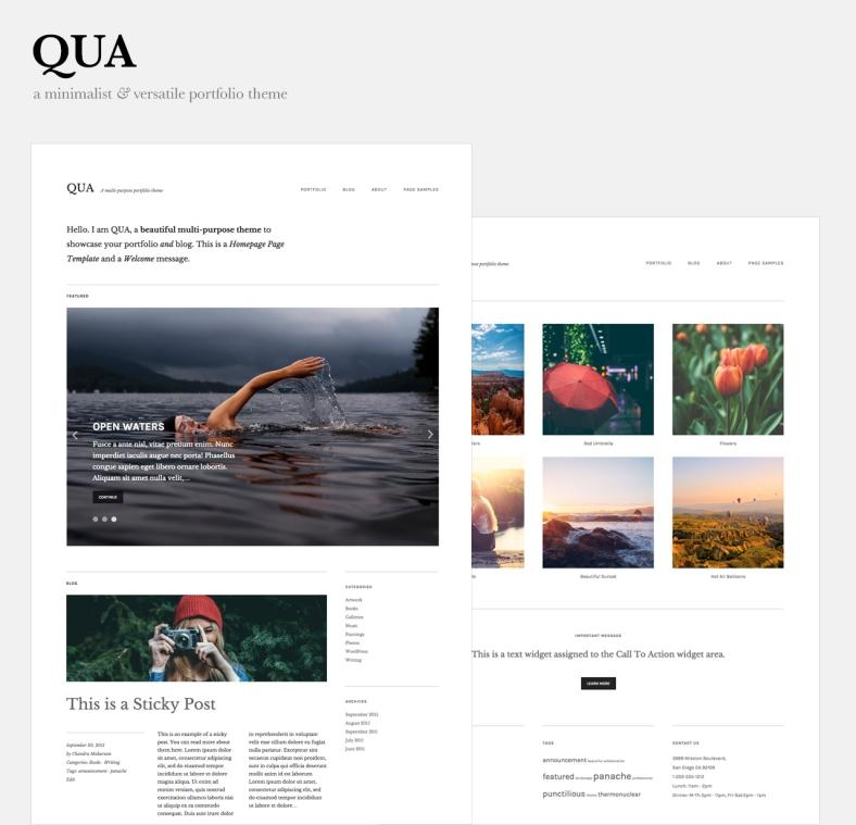 Qua WordPress theme