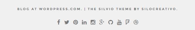 Silvio Social menu footer