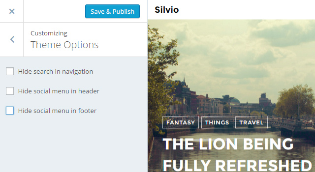 silvio-theme-option