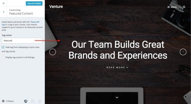 venture: featured content
