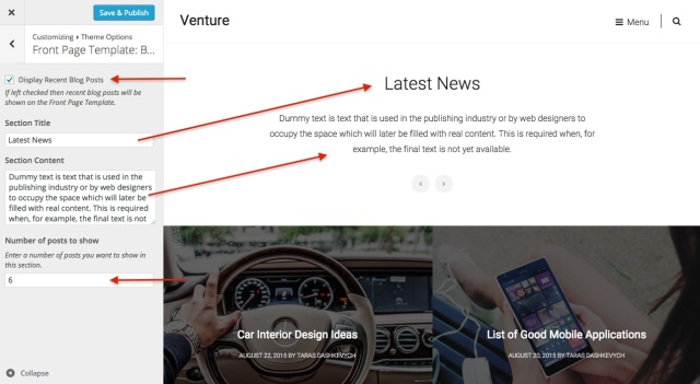 venture: front page posts