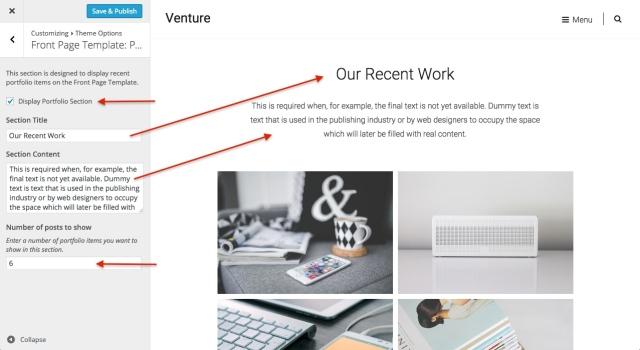 venture: front page portfolio