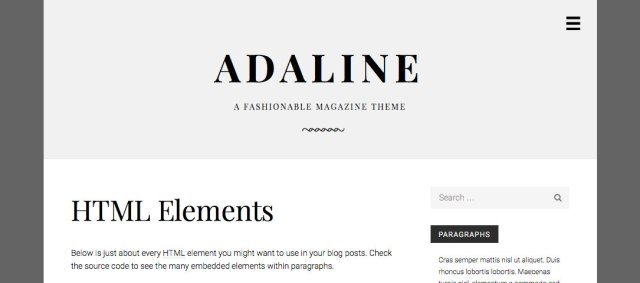 Adaline with light and dark gray color scheme