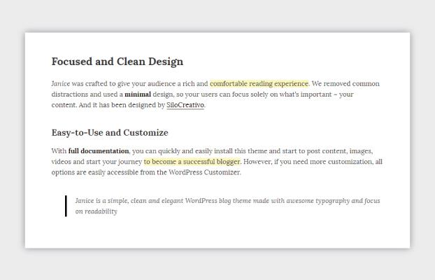 Janice Clean Design