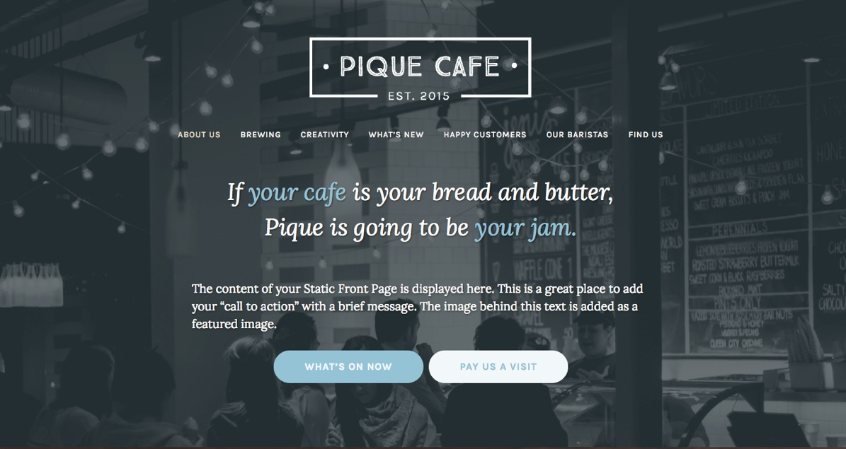Pique Theme — WordPress.com
