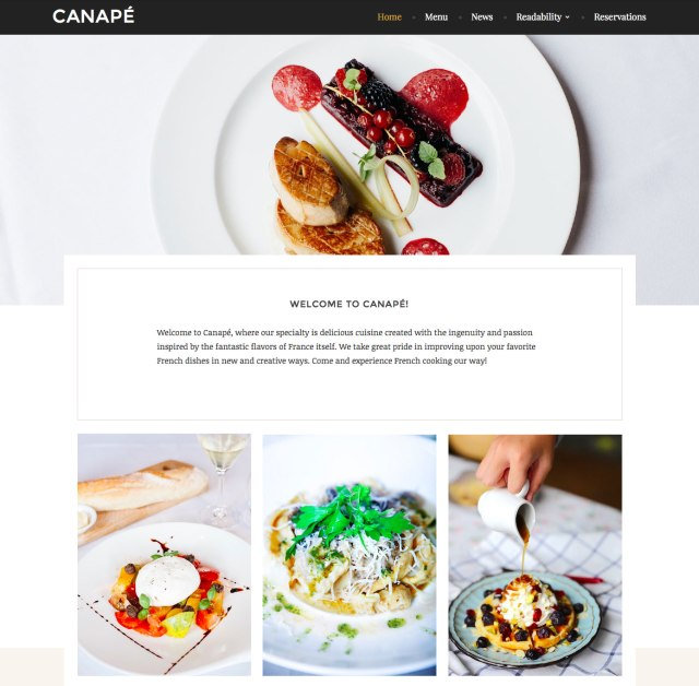 Canape WordPress theme screenshot