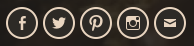 Social links automatically display as icons in the footer menu.