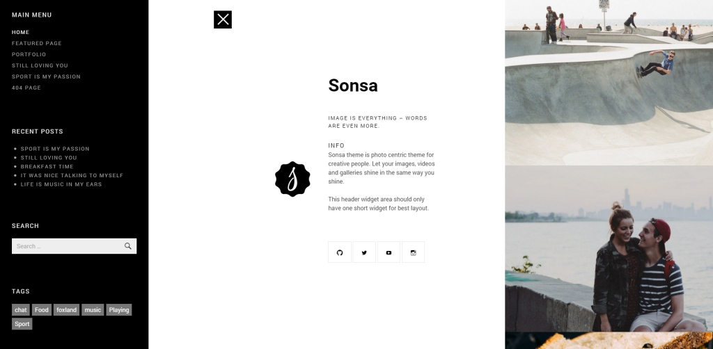 Sonsa Off Canvas Menu