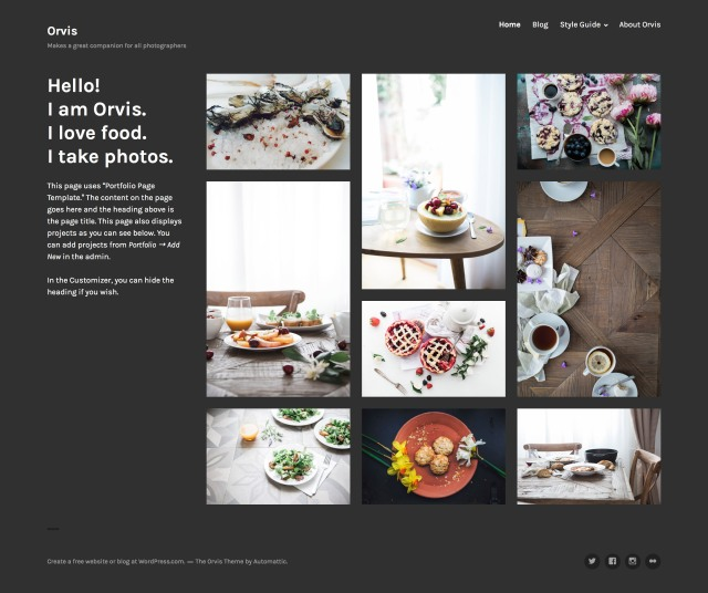 Orvis Theme — WordPress.com