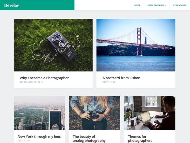 Revelar WordPress Theme