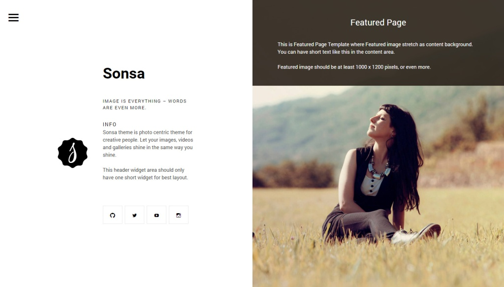 Featured Page Template