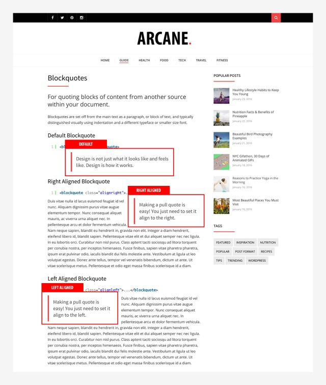 blockquotes-arcane-wordpress-theme