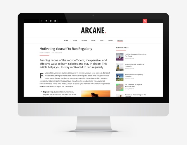 content-focused-arcane-wordpress-theme