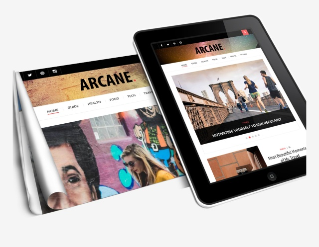 custom-header-arcane-wordpress-theme