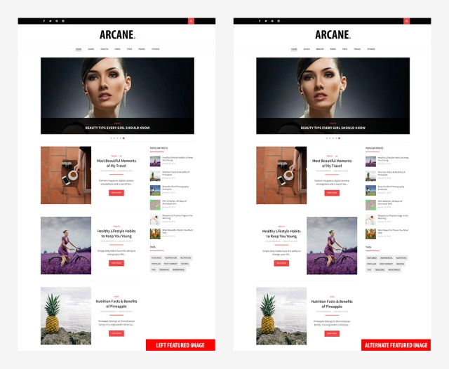 featured-image-position-arcane-wordpress-theme