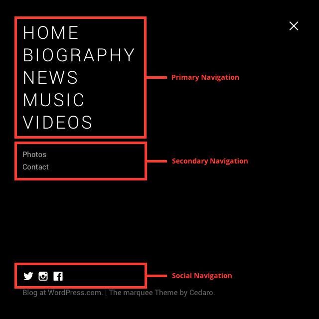 Marquee Documentation: Menus