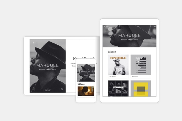 Marquee: Responsive Music Theme