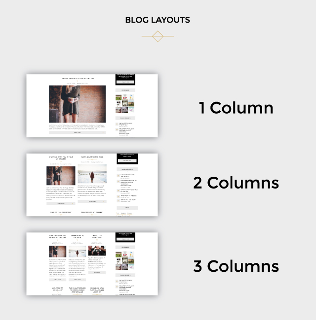 Rosalie blog layouts