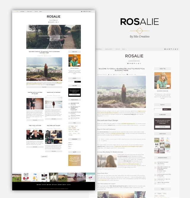 Rosalie WordPress theme