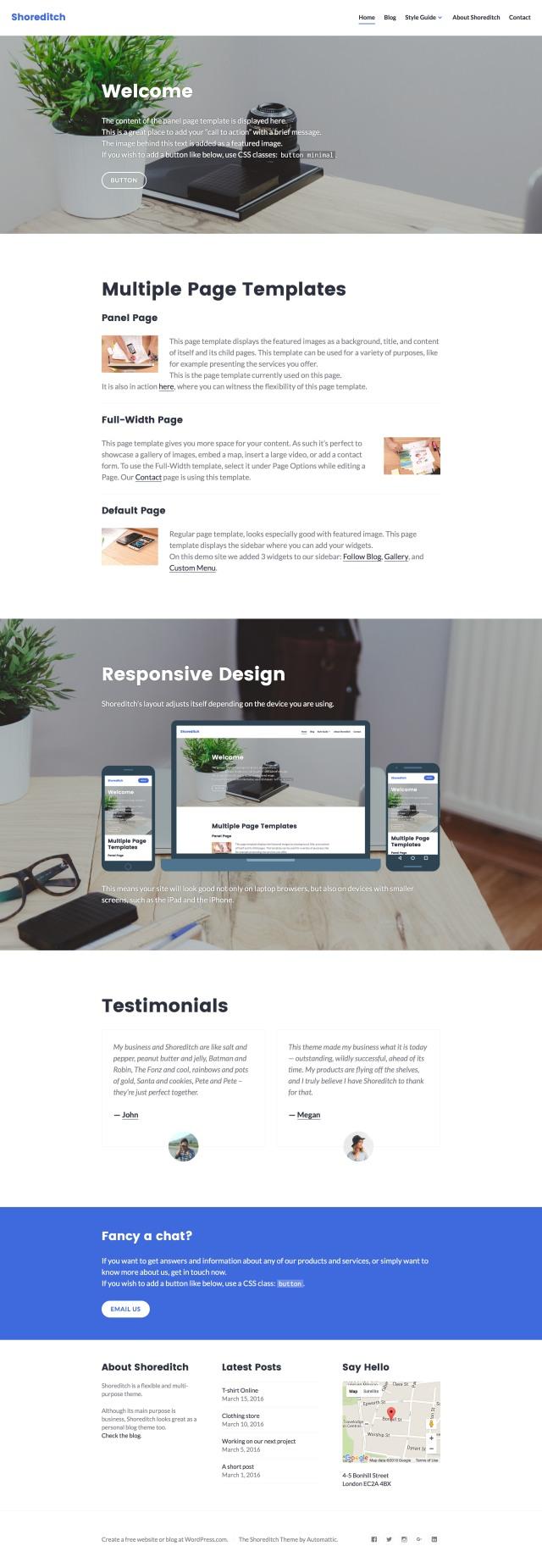 Shoreditch Theme — WordPress.com