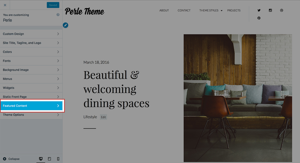 Perle Theme Docs - Featured post 1