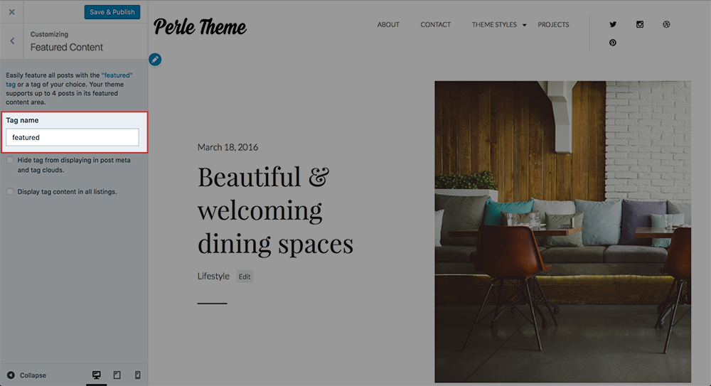 Perle Theme Docs - Featured post 2