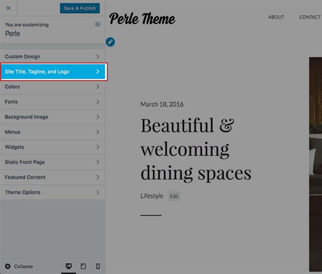Perle Theme - Site Logo