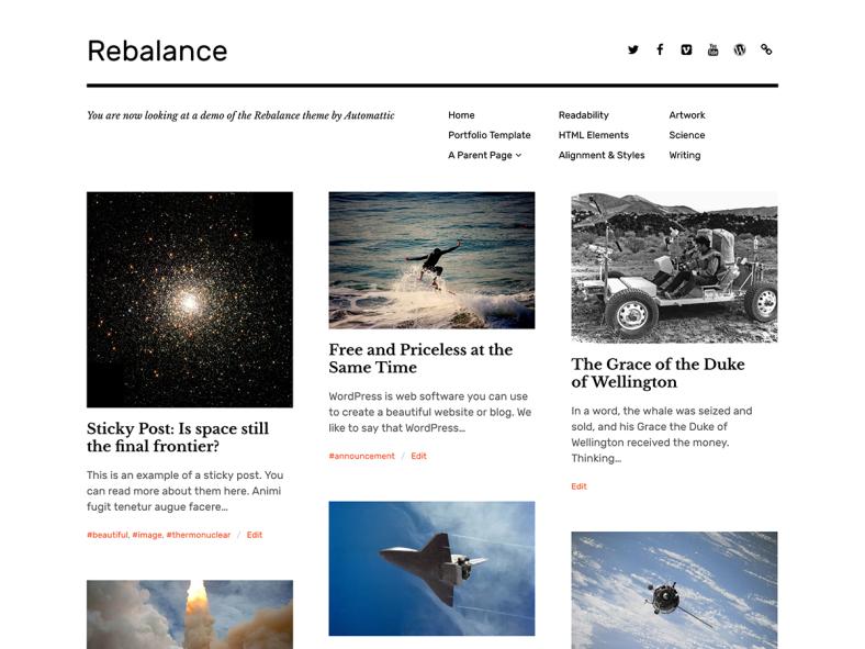 Rebalance Theme