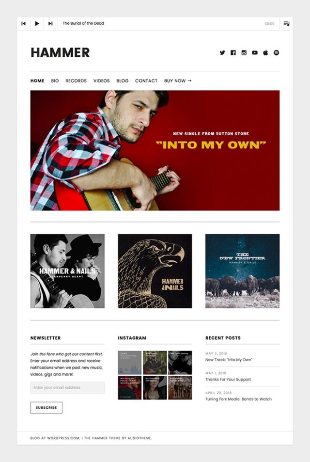 Hammer: Homepage