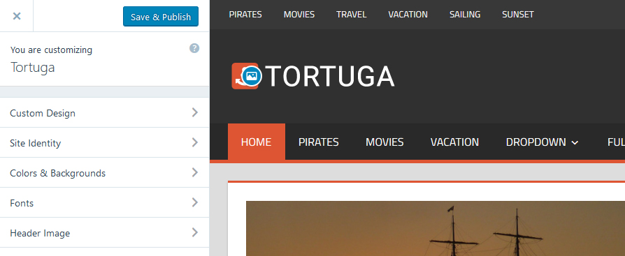 tortuga-customizer