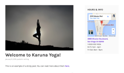 Karuna blog with active sidebar.