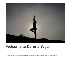 Karuna blog without active sidebar.