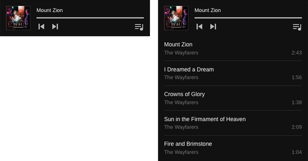 Wayfarer: Audio Player