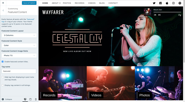 Wayfarer: Featured Content
