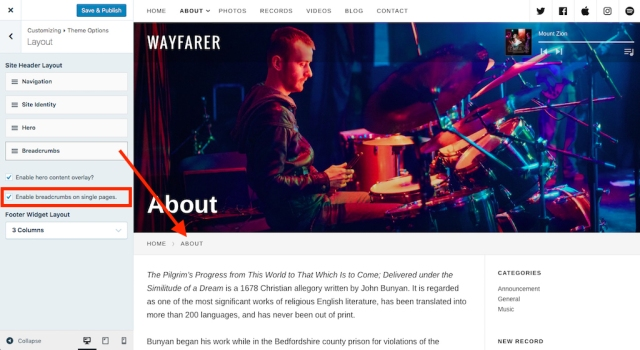 Wayfarer: Customize Breadcrumbs