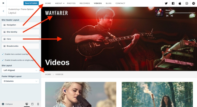 Wayfarer: Customize Site Layout