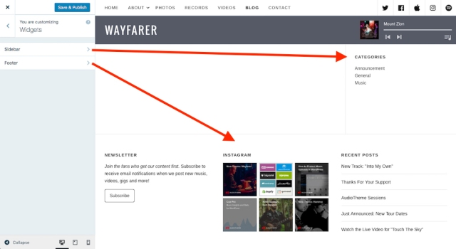 Wayfarer: Customize Widgets