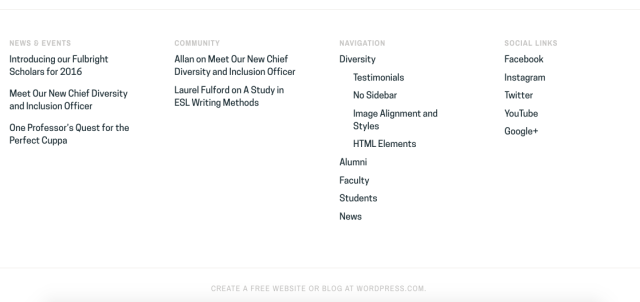 Site Footer