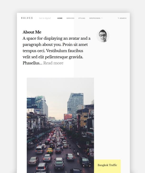 Halves Theme Homepage