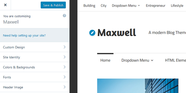maxwell-customizer