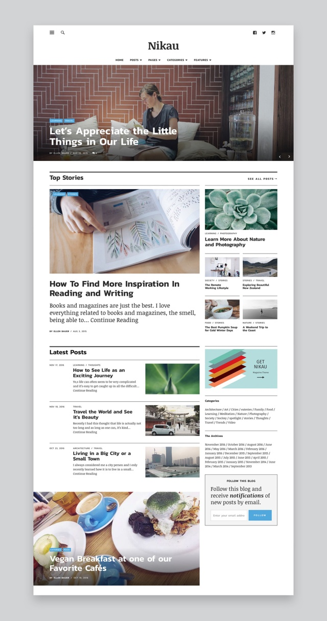 Nikau Magazine WordPress Theme